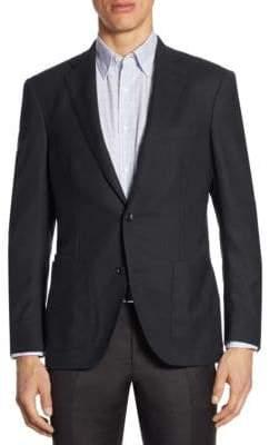 Luciano Barbera Hopsack Wool Soft Jacket
