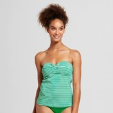 Mossimo Women's Molded Cup Twist Bandeau Tankini Top
