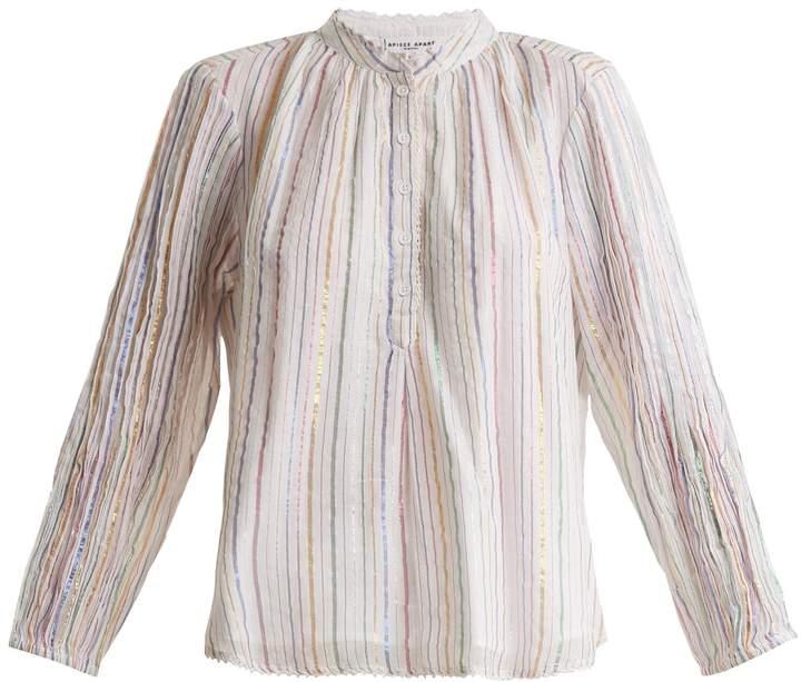 Apiece Apart Papyrus striped cotton-blend top