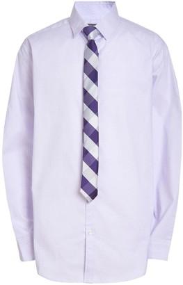 Van Heusen Boys 10-20 Husky Hexagon Button-Up Shirt & Tie Set