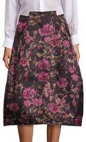Comme des Garcons Floral Jacquard Skirt