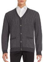 Bugatchi Long Sleeve Rib-Knit Sweater