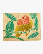 Mercedes Salazar Home Set-Of-Two Handmade Parrots Placemat