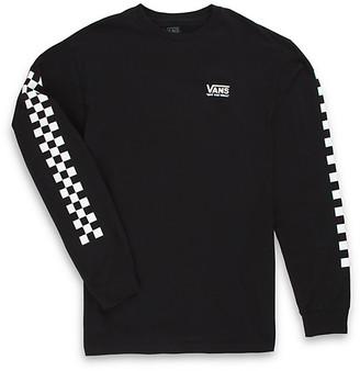 Vans Checkered Vee Long Sleeve T-Shirt