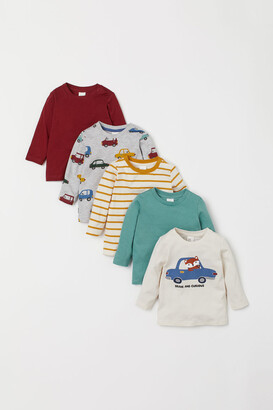 H&M 5-Pack Cotton Tops