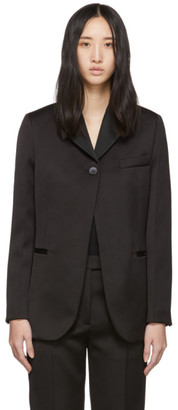 3.1 Phillip Lim Black Satin Single-Button Blazer