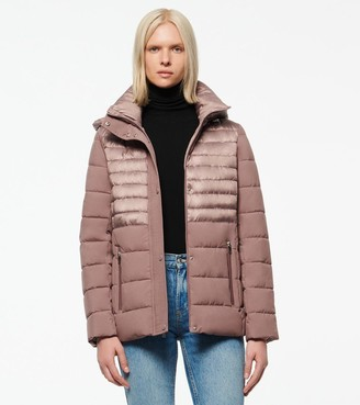 Andrew Marc MACOYA SYNTHETIC DOWN HOODED PUFFER