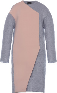 AV London - Two Tone Wool Blend Coat - UK8 - Silver/Pink