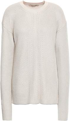 Roberto Cavalli Cutout Ribbed Wool-blend Sweater