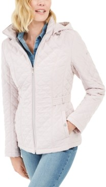 Laundry by Shelli Segal Hooded Quilted Water-Resistant Jacket