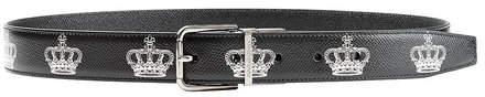 Dolce & Gabbana Printed Leather Belt