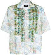 DSQUARED2 ruffle-trimmed Hawaiian shirt