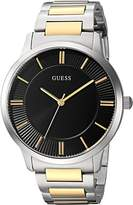 GUESS GUESS? Men's Quartz Stainless Steel Dress Watch, Color:Two Tone (Model: U0990G3)
