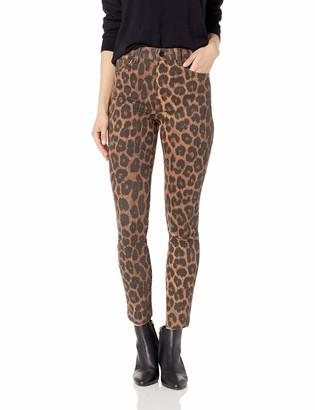 Joe's Jeans Women's Charlie HIGH Rise Skinny Ankle Leopard Jean 32