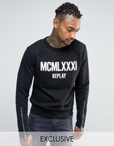 Replay Sweatshirt with Zip Detail