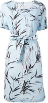 Blumarine printed belted dress - women - Cotton/Spandex/Elastane - 42