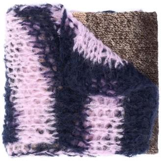 Raf Simons Contrast Knit Stripe Scarf
