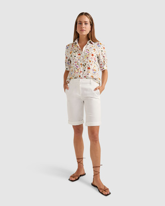 Sportscraft Women's White Shorts - Lena Chino Shorts - Size One Size, 8 at The Iconic