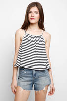 BB Dakota Terry Stripe Flyaway Back Tank Top
