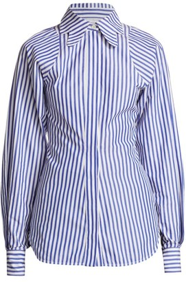 Victoria Beckham Butterfly Collar Striped Shirt