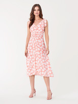 Diane von Furstenberg Emma Crepe-Blend Midi Dress