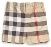 Burberry Toddler Boy's 'Sean' Check Print Shorts