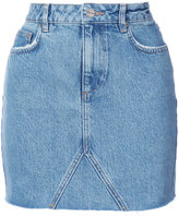 Anine Bing raw hem denim skirt