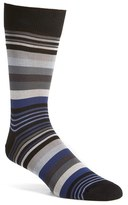 Bugatchi Men's 'Deconstructed Rugby Stripe' Socks
