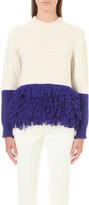 DELPOZO Block knit fringed jumper