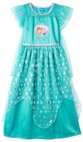 Disney Disney's Frozen Elsa & Anna Girls 4-10 Fantasy Nightgown