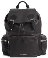 Burberry Men's Leather Backpack - Black