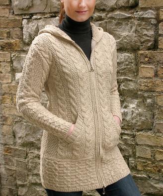 West End Knitwear Women's Non-Denim Casual Jackets PARSNIP - Parsnip Hooded Zip-Up Wool Jacket - Women