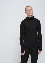 Y-3 Black Merino Hooded Top