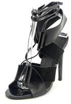 Keepsake Lilian Heel Open Toe Leather Sandals.