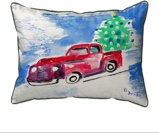 Betsy Drake Truck & Tree Large Pillow 16x20