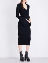 SOLACE London Raina knitted midi dress