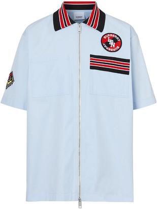 Burberry Logo Graphic zipped shirt