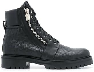 Balmain Logo-Embossed Leather Boots