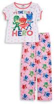 AME Sleepwear Little Girls PJ Masks Tee and Pants Pajama Set