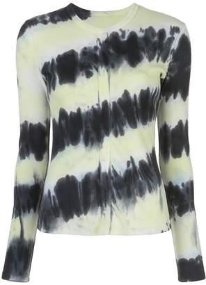 Proenza Schouler White Label long-sleeved tie dye T-shirt
