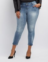 Charlotte Russe Plus Size Cropped Skinny Jeans