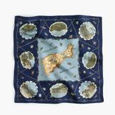 "J.Crew Destination Italian silk scarf in ""Capri"" print"