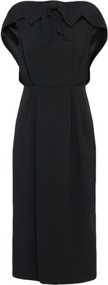 Prada Draped Detail Midi Dress
