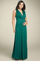Maternity Shirred Jersey Maxi Dress