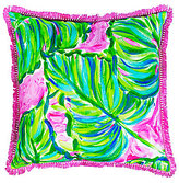 Lilly Pulitzer Painted Palm Indoor/Outdoor Canvas Square Pillow