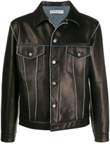 Givenchy Contrast Trims Leather Jacket