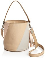 Meli-Melo Santina Color Block Mini Leather Bucket Bag