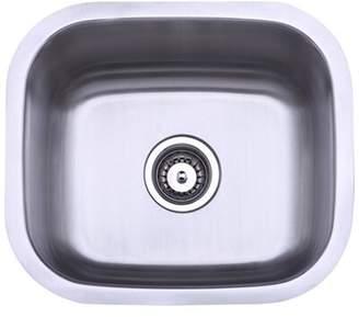 "Elements of Design 13.88"" L x 13.5"" W Undermount Single Bowl Kitchen Sink Elements of Design"