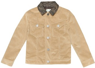 Fendi Kids Cotton-corduroy jacket