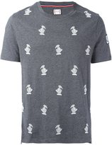 Moncler Gamme Bleu embroidered bird T-shirt